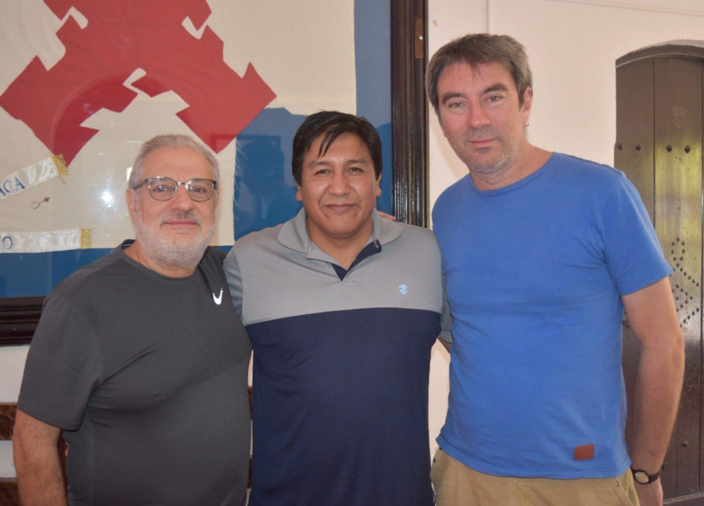 Director y productor de la pelicula junto al intendente Herrera