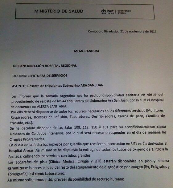 ARA San Juan: detectaron una señal cerca de Puerto Madryn