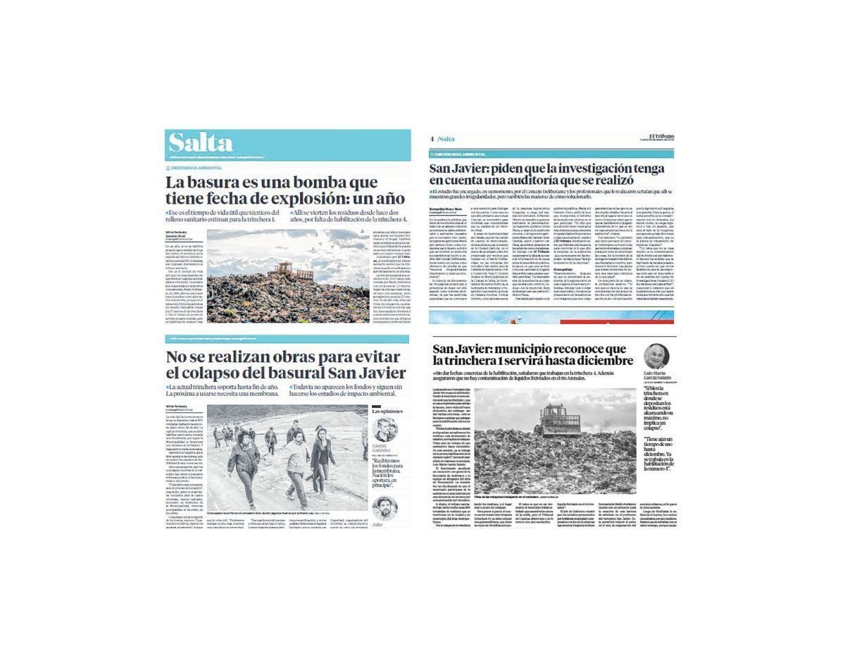 Faltan 60 días para el colapso del vertedero San Javier