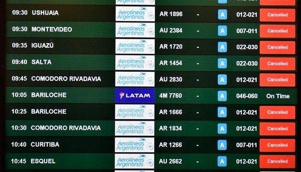 Hay unos 15.000 pasajeros aéreos varados en Argentina - Internacionales