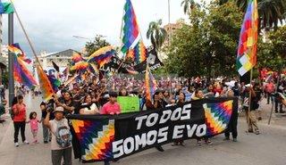 VIDEO. Masiva marcha en apoyo a Evo Morales en Jujuy