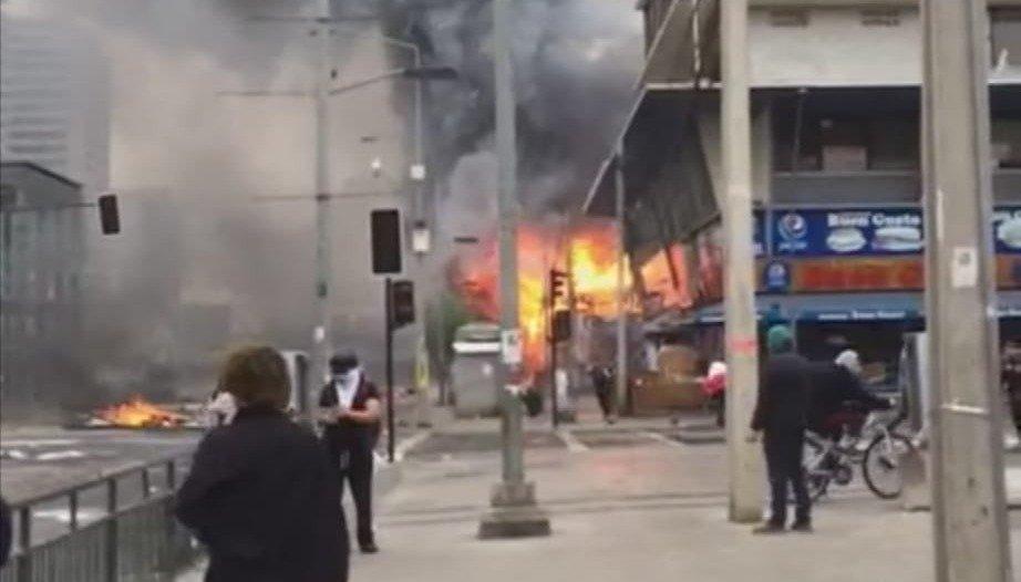 Evacuaron la embajada argentina en Santiago: