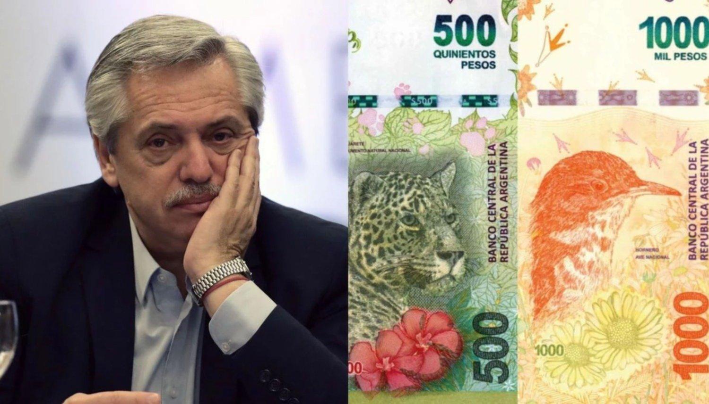 Alberto Fernández criticó los billetes con animales del macrismo