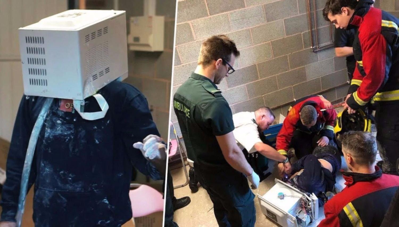 Youtuber provoca una emergencia al quedar atrapado en un microondas