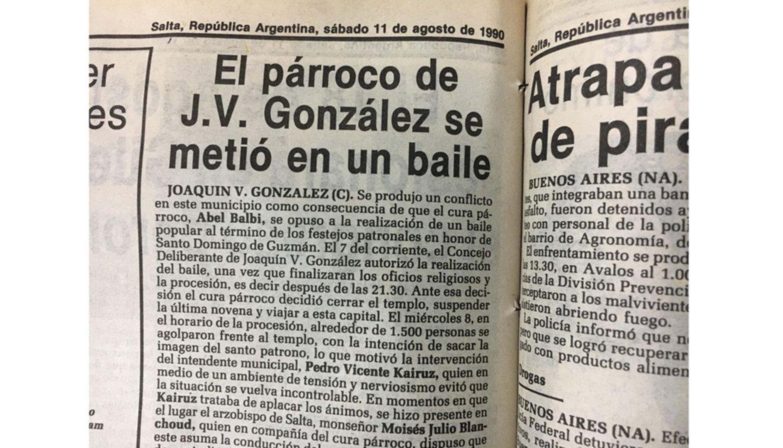 El polémico perfil del sacerdote Abel  Balbi