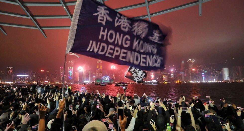 Hong Kong recibe así el Año Nuevo 2020. (EFE/EPA/Vivek Prakash).