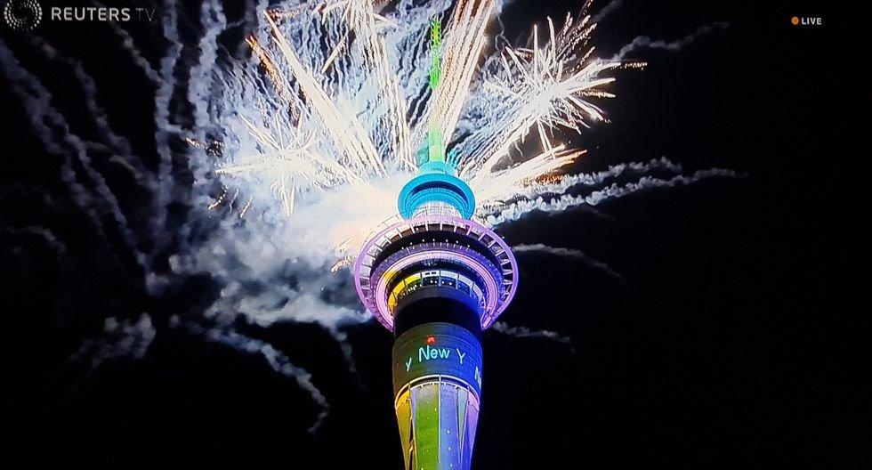 Nueva Zelanda recibió así el Año Nuevo 2020. (Reuters).